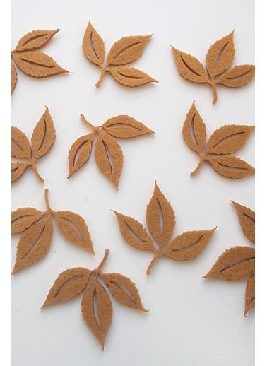 Funbou Keçe Sonbahar Yaprakları / 20 Adet Kahve